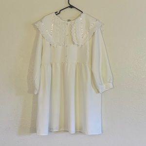 White hard candy dress.